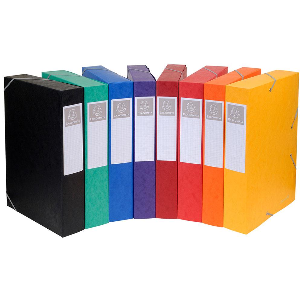 exacompta boites de classement cartobox dos 50 mm assortis x 10 bo te de classement exacompta. Black Bedroom Furniture Sets. Home Design Ideas