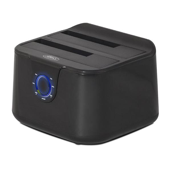 """Accessoires disque dur Advance Dual Dock BX-3003U32 Station d'accueil pour disques durs SATA 2.5"""" et 3.5"""" sur port USB 3.0 (Noir)"""