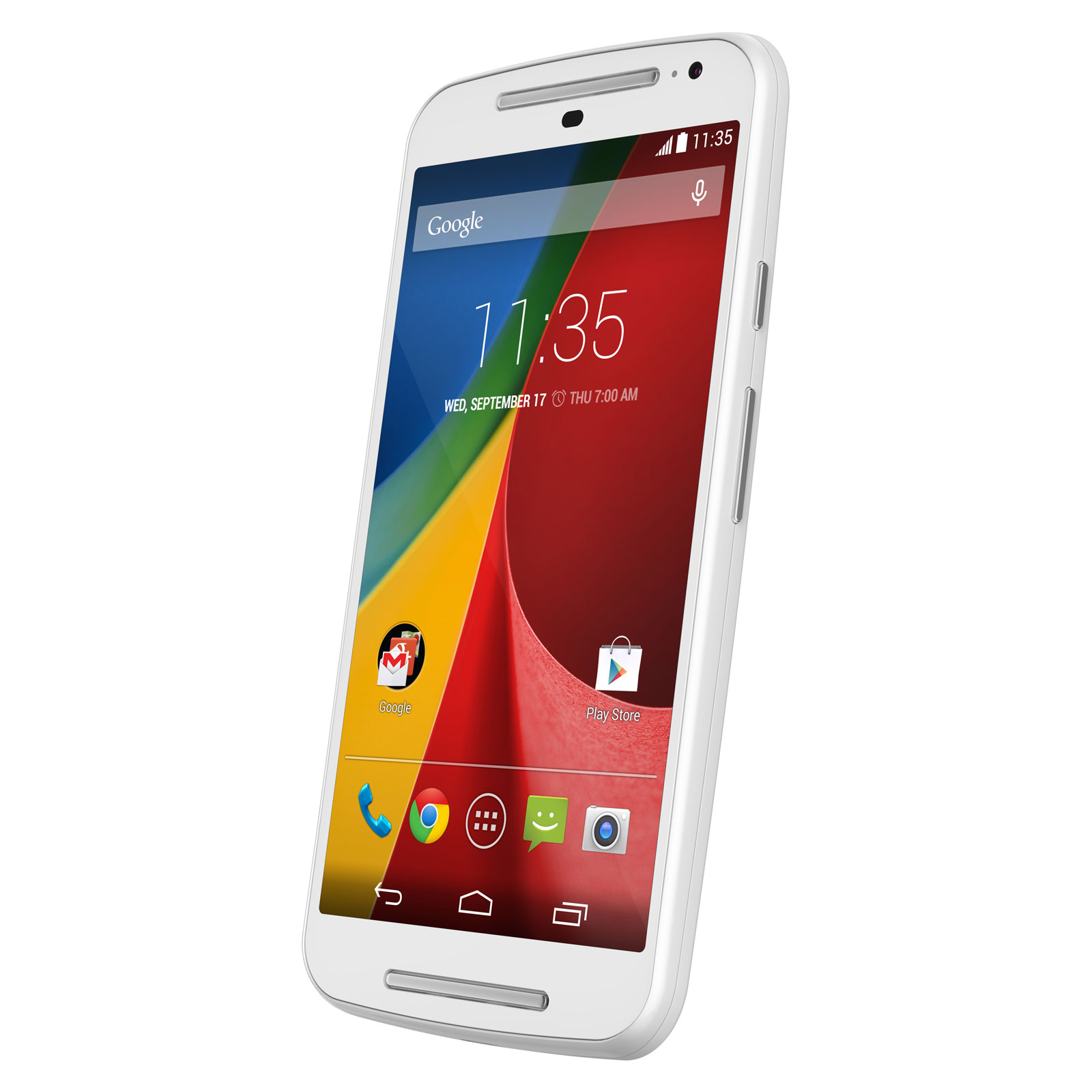 Motorola moto g 2 me g n ration 8 go blanc mobile for Photo ecran moto g