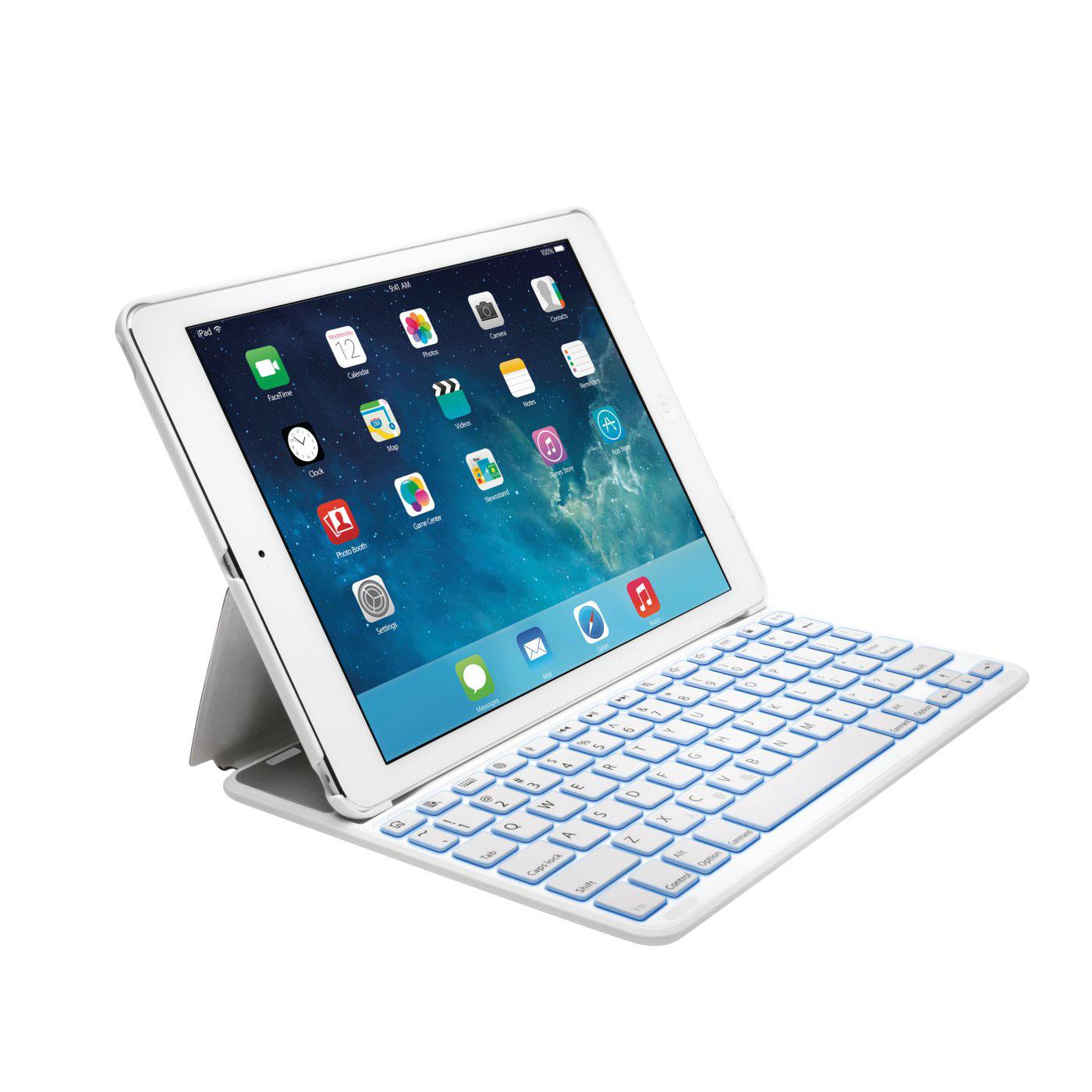 kensington keyfolio thin x2 plus blanc etui tablette. Black Bedroom Furniture Sets. Home Design Ideas