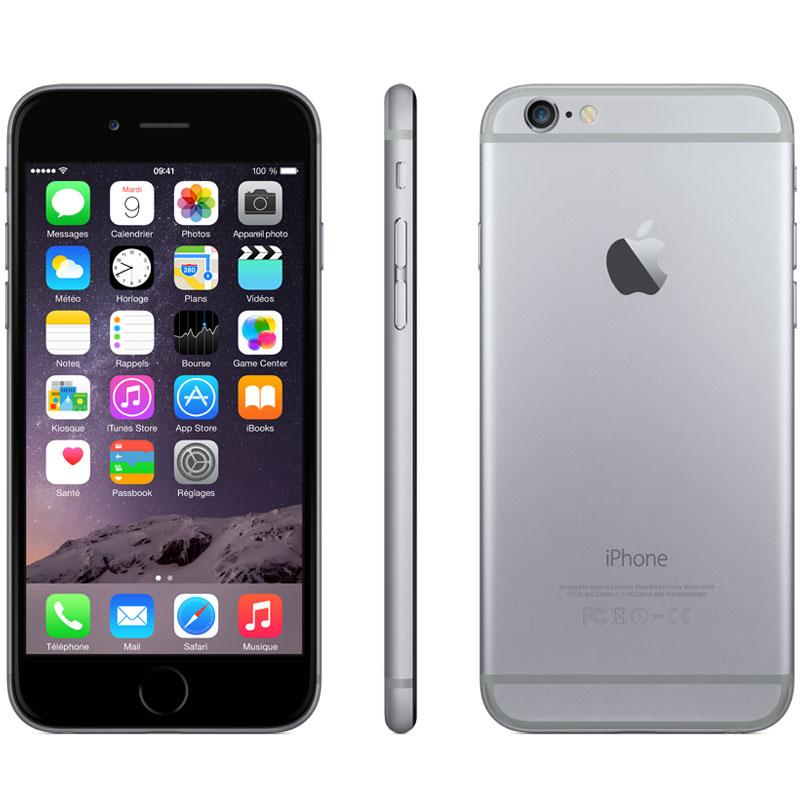 apple iphone 6 16 go gris sid ral mobile smartphone apple sur. Black Bedroom Furniture Sets. Home Design Ideas