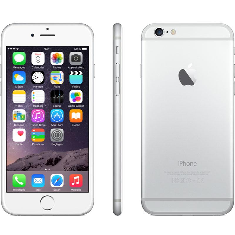 apple iphone 6 128 go argent mobile smartphone apple. Black Bedroom Furniture Sets. Home Design Ideas