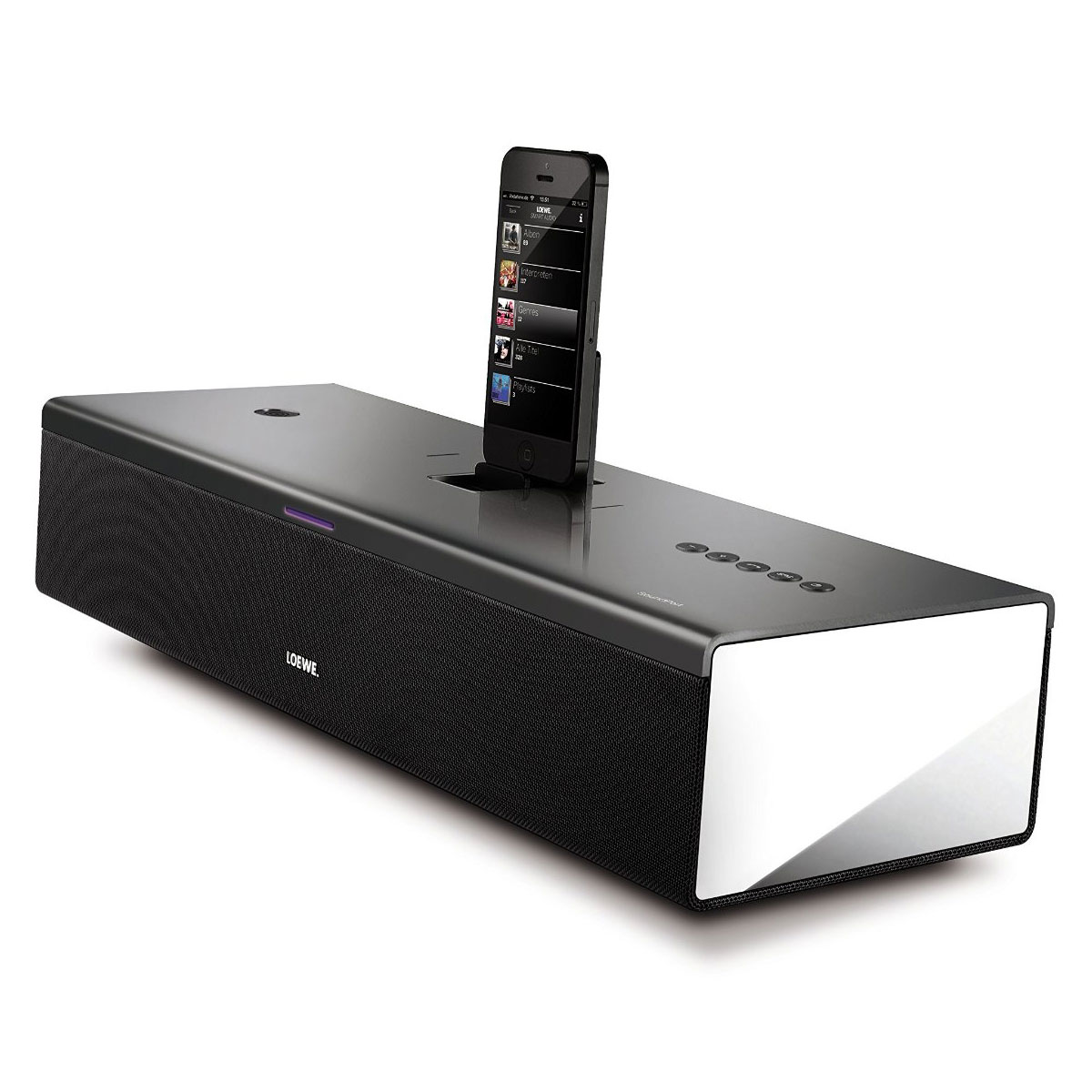 loewe soundport compact noir dock enceinte bluetooth. Black Bedroom Furniture Sets. Home Design Ideas
