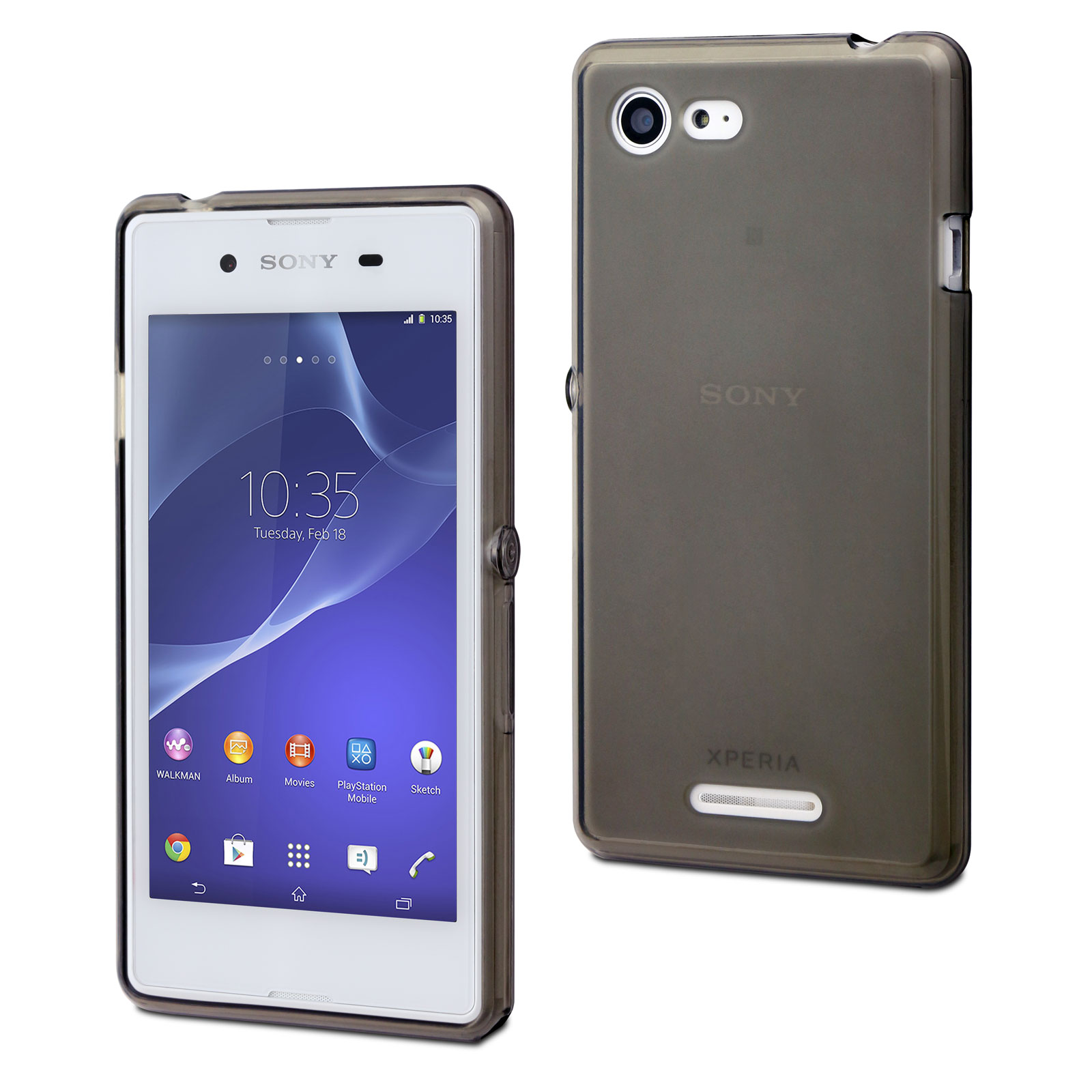 made for xperia housse minigel smoke fonc 233 pour sony xperia e3 etui t 233 l 233 phone made for xperia