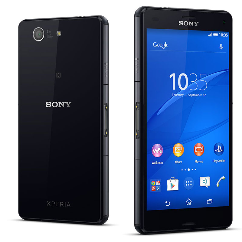sony xperia z3 compact noir mobile smartphone sony sur. Black Bedroom Furniture Sets. Home Design Ideas