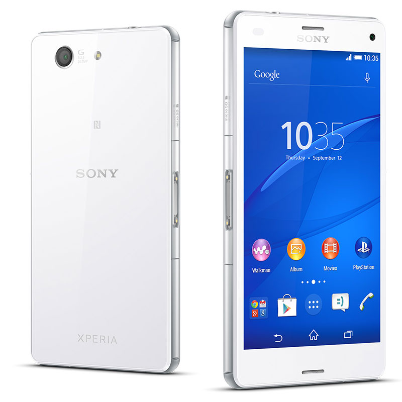 sony xperia z3 compact blanc mobile smartphone sony sur. Black Bedroom Furniture Sets. Home Design Ideas