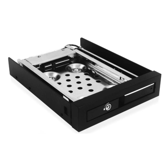 "Rack HDD interne ICY BOX IB-2217StS Rack mobile pour disque dur ou SSD 2.5"" Serial ATA dans baie 3.5"""