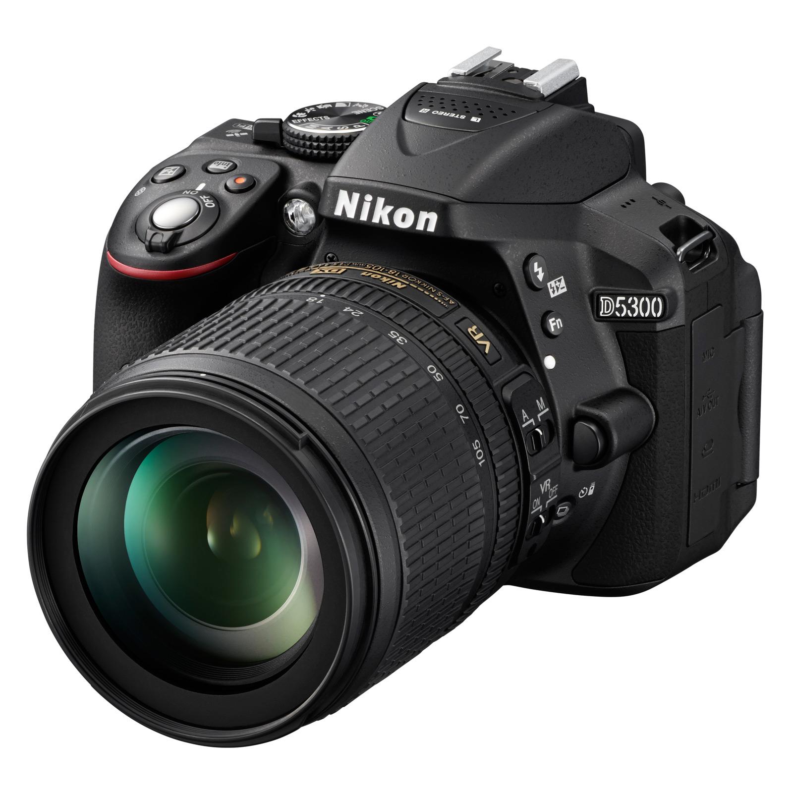 nikon d5300 + af-s dx nikkor 18-105 mm - appareil photo reflex nikon