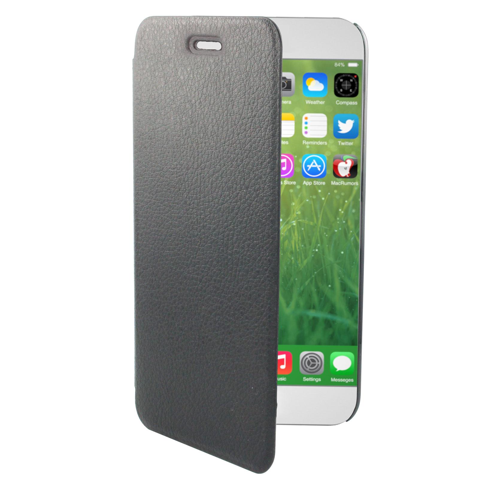 swiss charger etui folio noir apple iphone 6 plus etui. Black Bedroom Furniture Sets. Home Design Ideas