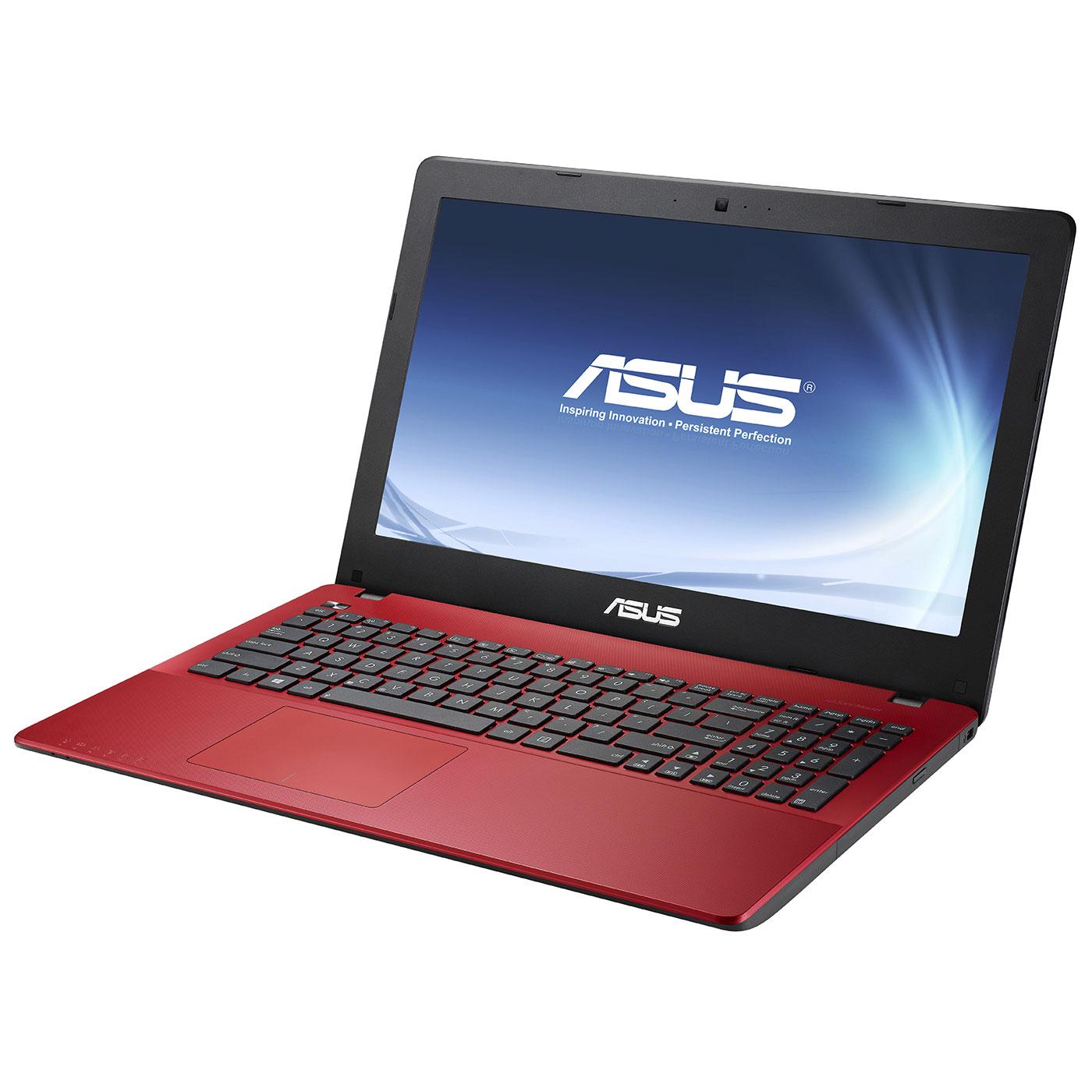"""PC portable ASUS R510LAV-XX962H Rouge Intel Core i5-4210U 4 Go 1 To 15.6"""" LED Graveur DVD Wi-Fi N/Bluetooth Webcam Windows 8.1 64 bits (garantie constructeur 1 an)"""