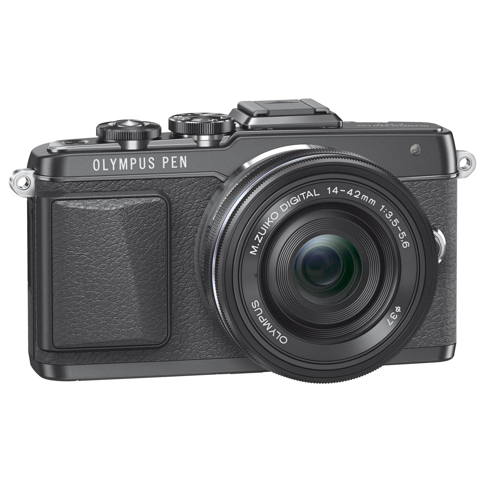 "Appareil photo hybride Olympus E-PL7 Noir + Objectif M.ZUIKO DIGITAL 14-42mm 1:3.5-5.6 II R Noir Appareil photo hybride 16.1 MP - Ecran LCD tactile orientable 3"" - Vidéo Full HD - Wi-Fi"