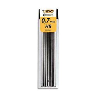 Bic etui de 12 mines 0 7 mm hb conte 7507 crayon porte for Porte mine 0 5