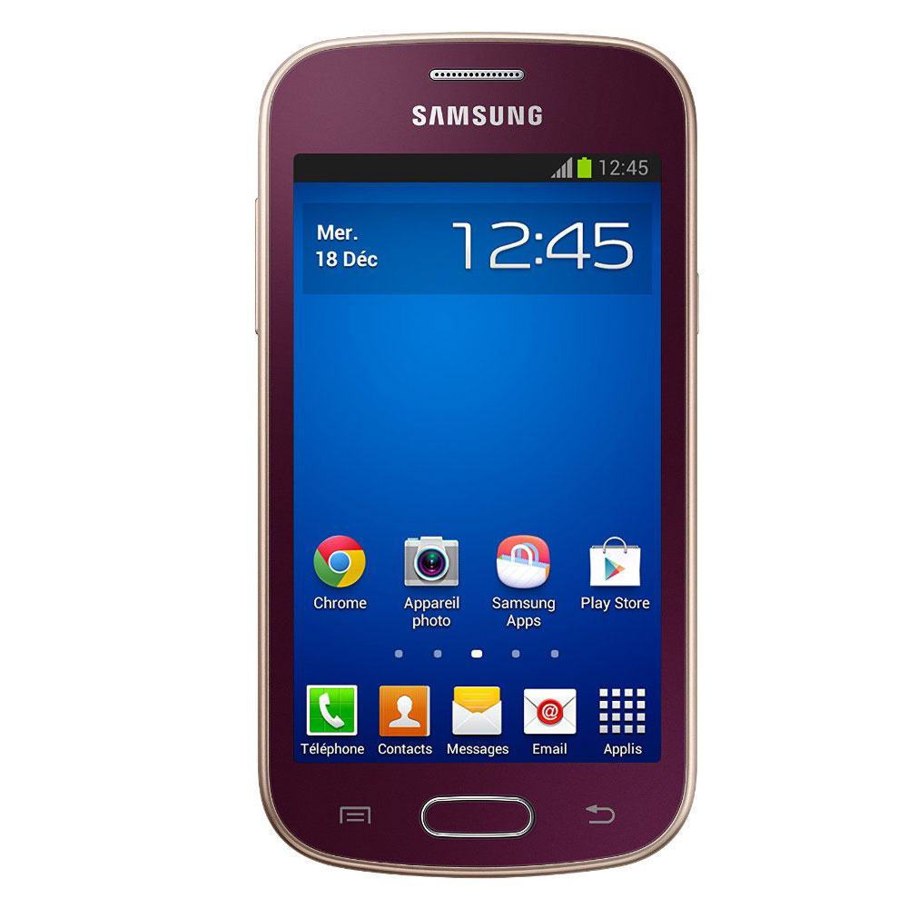 samsung galaxy trend lite gt s7390 rouge mobile smartphone samsung sur. Black Bedroom Furniture Sets. Home Design Ideas