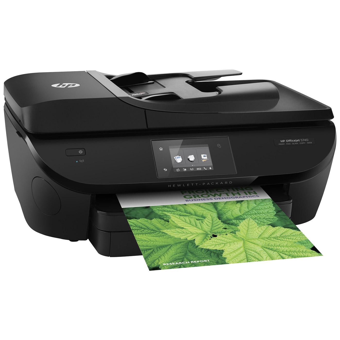 Imprimante multifonction HP Officejet 5740 Imprimante Multifonction jet d'encre couleur 4-en-1 (USB 2.0 / Ethernet / Wi-Fi / NFC)