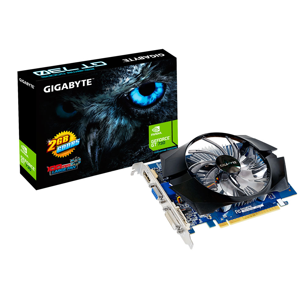 Carte graphique Gigabyte GV-N730D5-2GI - GeForce GT 730 2 Go 2 Go HDMI/DVI - PCI Express (NVIDIA GeForce avec CUDA GT 730)