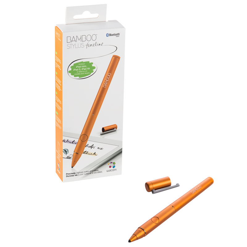 wacom bamboo stylus fineline orange stylet tablette. Black Bedroom Furniture Sets. Home Design Ideas