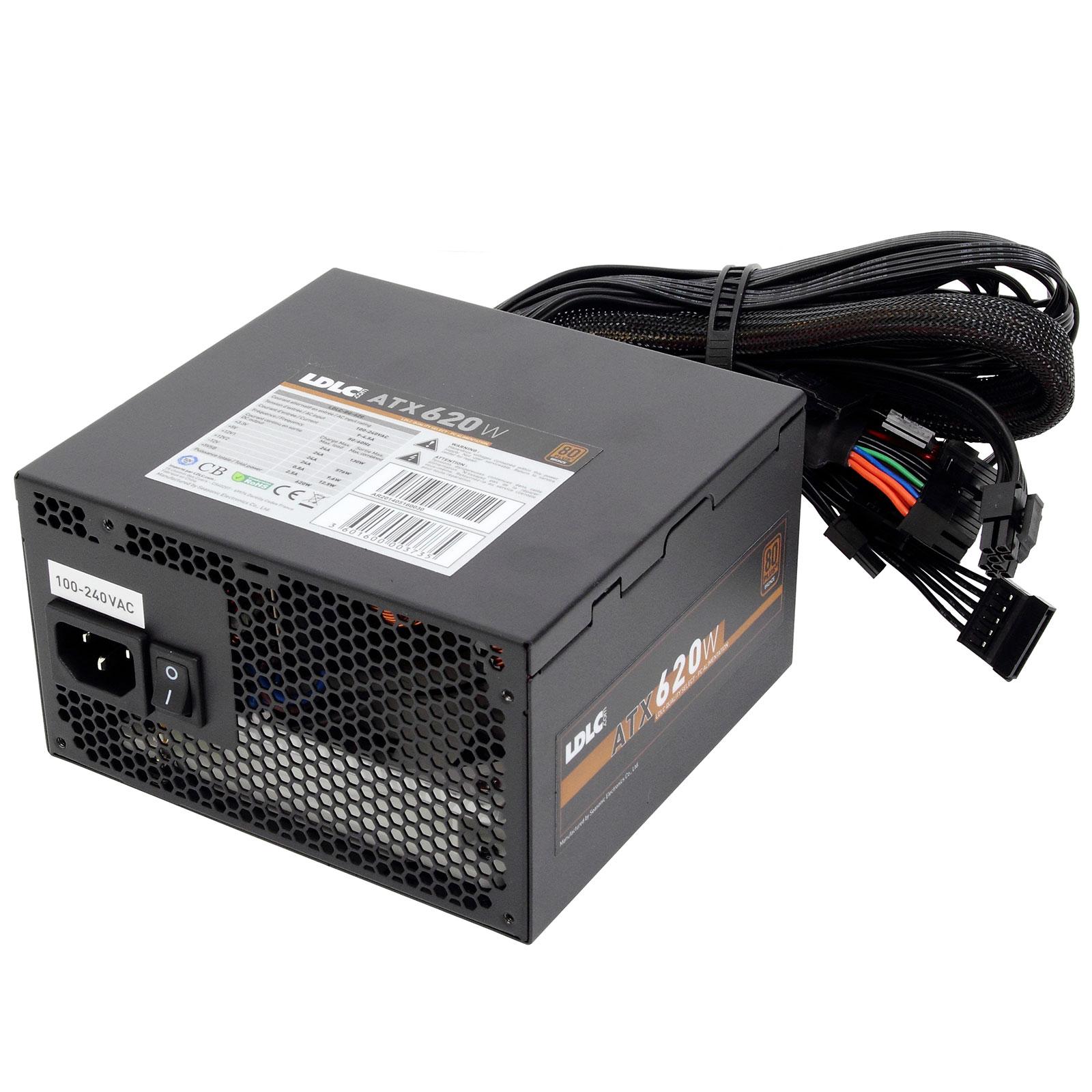 Alimentation PC LDLC BG-620 Quality Select 80PLUS Bronze Alimentation 620W ATX 12V Ventilateur 120 mm - 80PLUS Bronze