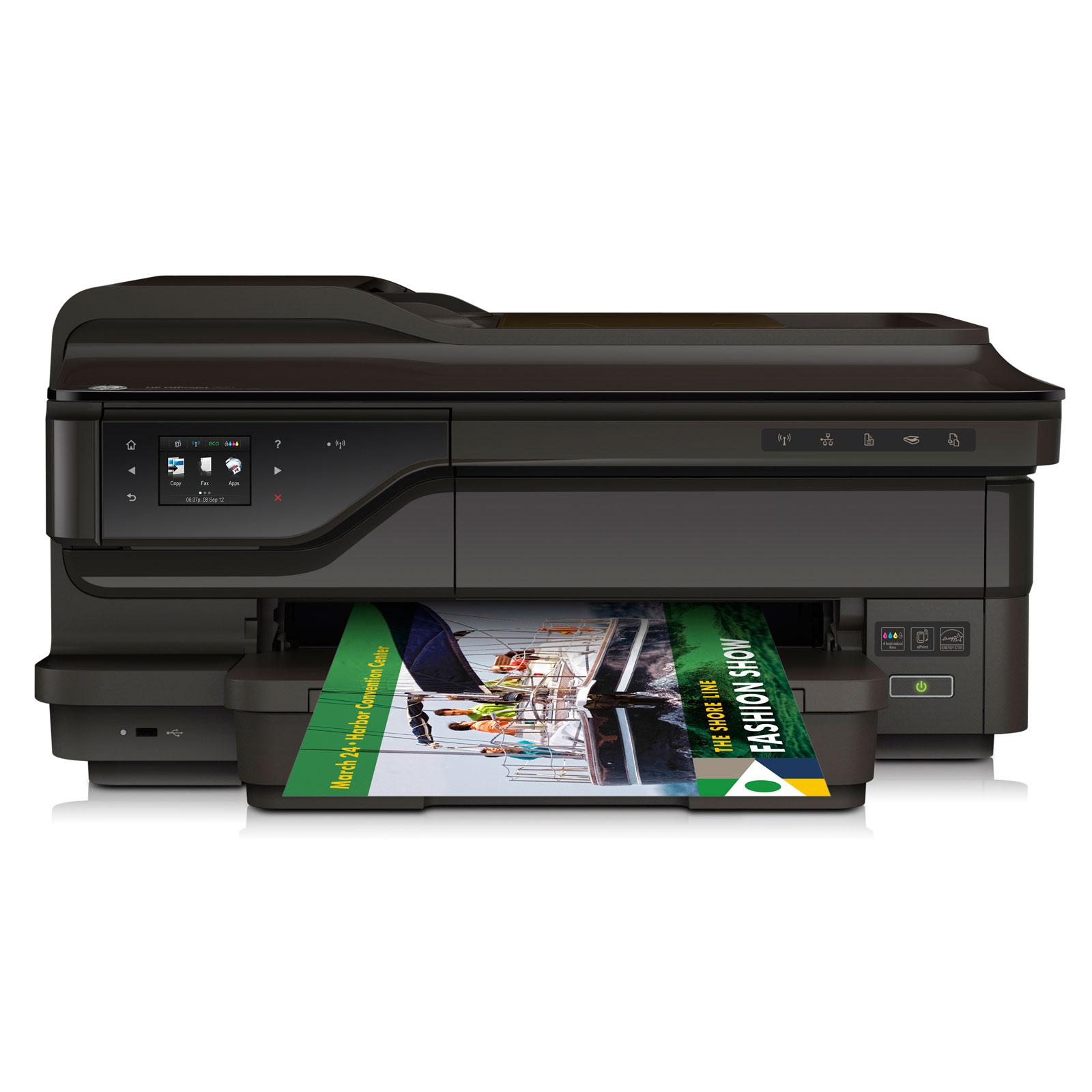 Imprimante multifonction HP Officejet 7612 WF Imprimante Multifonction jet d'encre couleur 4-en-1 (USB 2.0 / Ethernet / Wi-Fi)