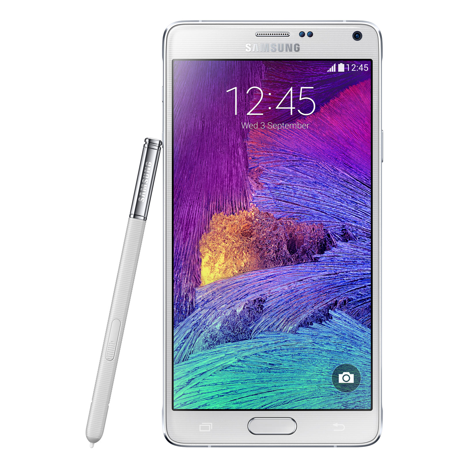 """Mobile & smartphone Samsung Galaxy Note 4 SM-N910 Blanc 32 Go Smartphone 4G-LTE Advanced avec écran tactile Full HD Super AMOLED 5.7"""" sous Android 4.4"""