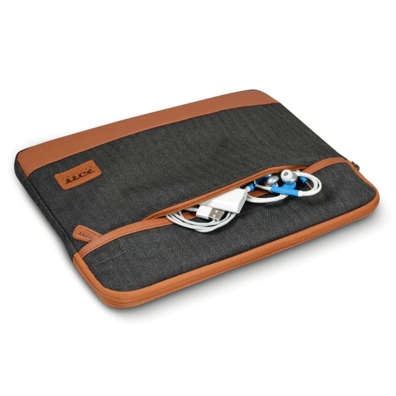 Port designs bahia sleeve 13 3 14 noir sac sacoche for Housse ordinateur 14 pouces originale