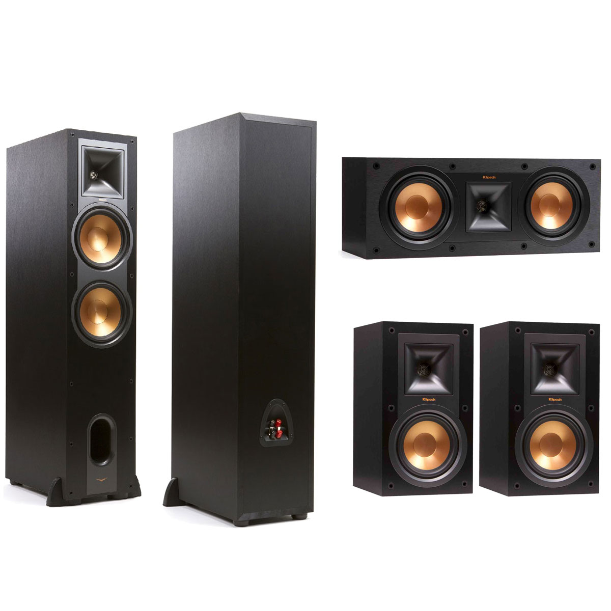 klipsch r 28f klipsch r 25c klipsch r 15m enceintes hifi klipsch sur. Black Bedroom Furniture Sets. Home Design Ideas