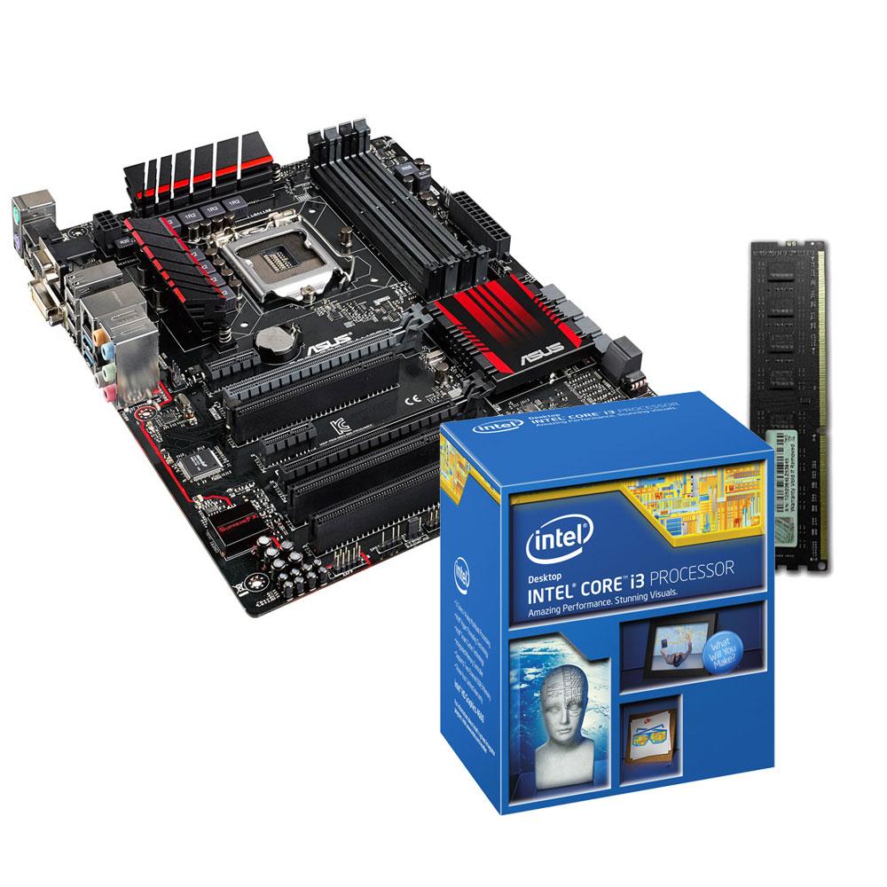 Kit Upgrade PC Core i3 ASUS B85-PRO GAMER 4 Go Carte mère ATX Socket 1150  Intel B85 Express + CPU Intel Core i3-4160 (3.6 GHz) + RAM 4 Go DDR3 1333  MHz G. ... e3398e616dbb