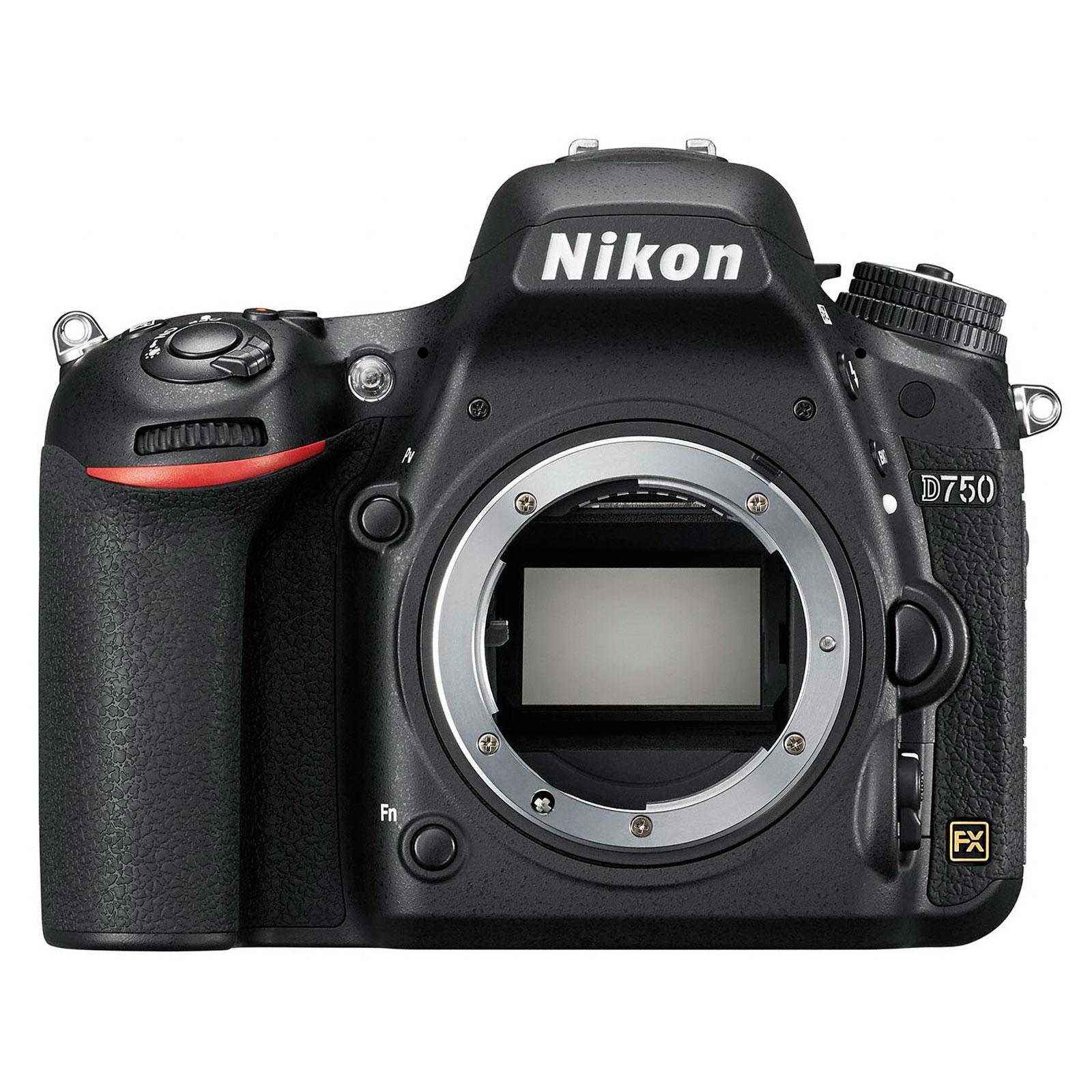 """Appareil photo Reflex Nikon D750 (boîtier nu) Réflex Numérique 24.3 MP - Ecran inclinable 3.2"""" - Vidéo Full HD 1080p - Wi-Fi"""