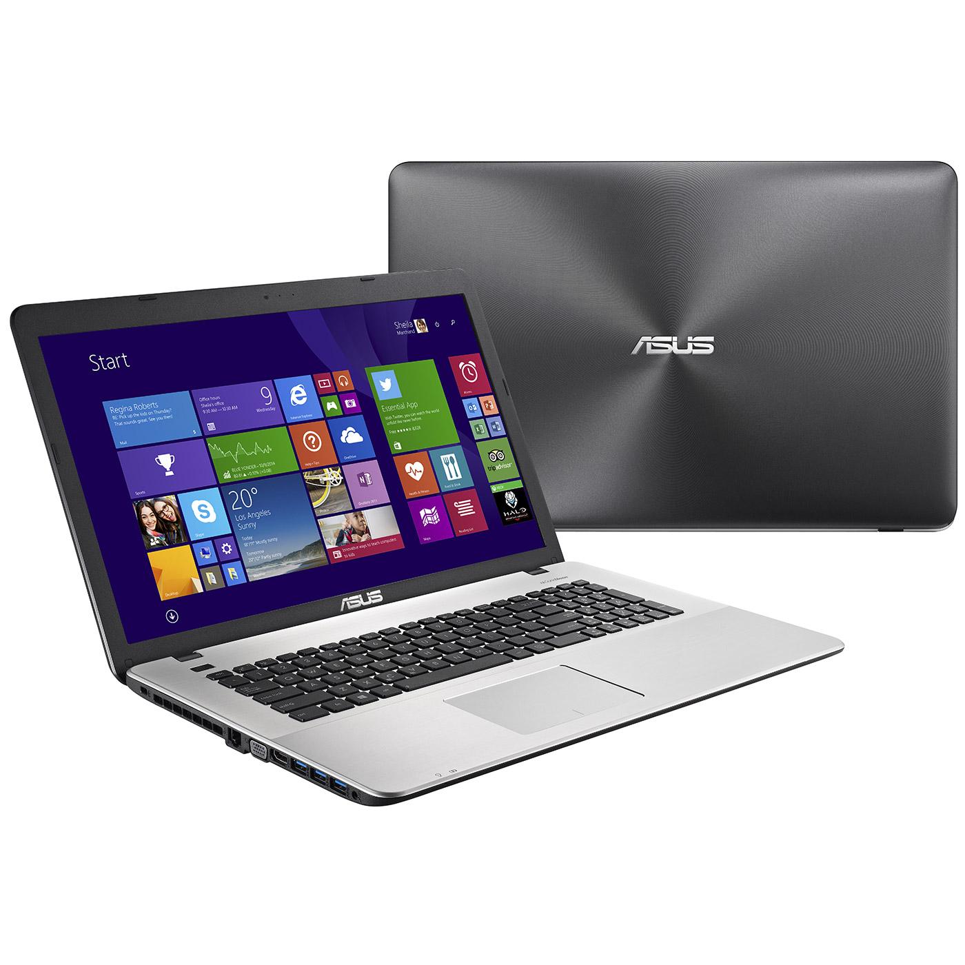 """PC portable ASUS R752LK-T4036H Intel Core i7-4510U 8 Go 1 To 17.3"""" LED NVIDIA GeForce GTX 850M Graveur DVD Wi-Fi N/Bluetooth Webcam Windows 8.1 64 bits (Garantie constructeur 1 an)"""