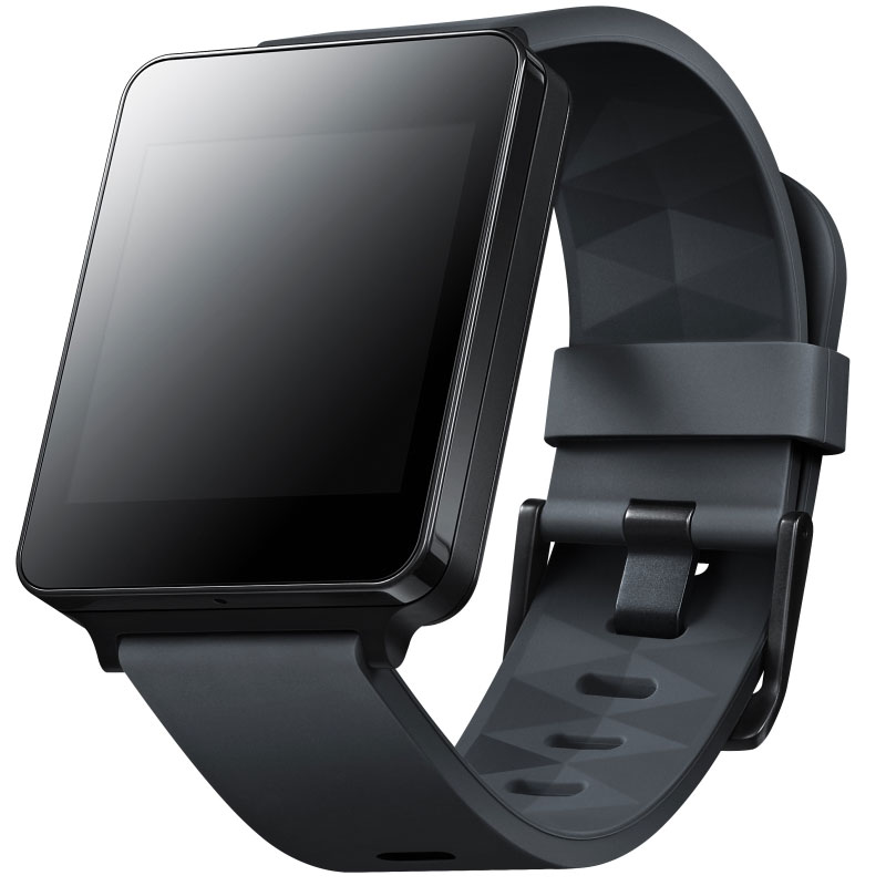 lg g watch w100 noir montre connect e lg sur. Black Bedroom Furniture Sets. Home Design Ideas