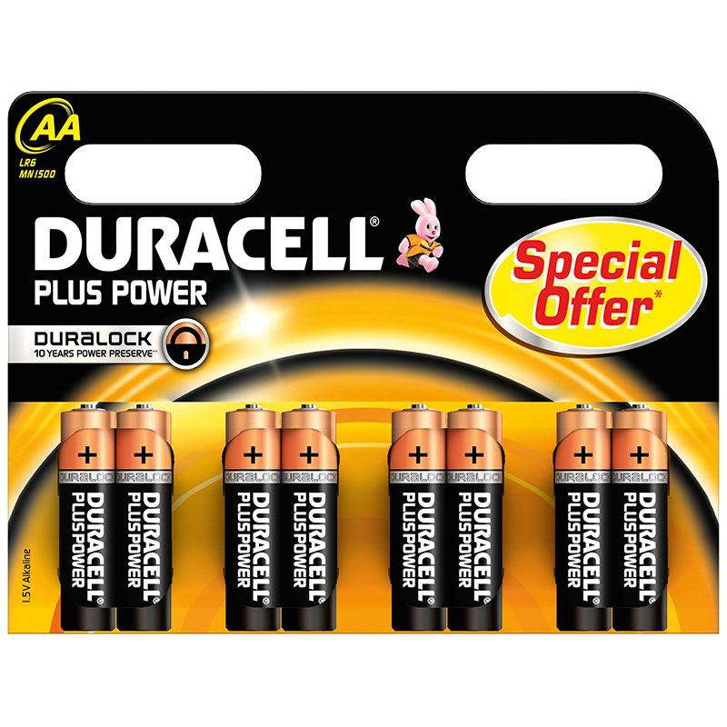 duracell plus power aa par 8 pile chargeur duracell sur. Black Bedroom Furniture Sets. Home Design Ideas