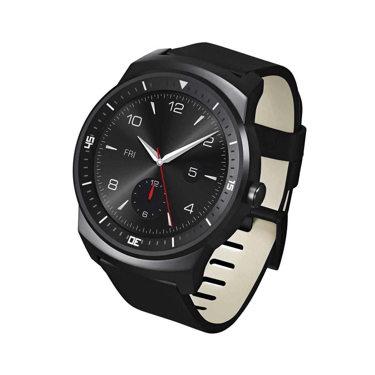 """Montre connectée LG G Watch R 4 Go Montre connectée Bluetooth sous Android Wear certifiée IP67 avec écran tactile P-OLED 1.3"""""""