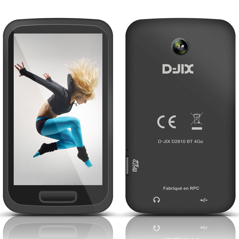 """Lecteur MP3 & iPod D-Jix  D2810BT 4 Go Lecteur MP4 4 Go - Ecran tactile 2.8"""" - Radio FM - Bluetooth - Caméra/Appareil photo"""