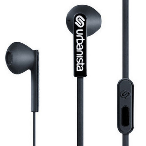 Casque Urbanista San Francisco Noir Écouteurs intra-auriculaires de type EarPods avec télécommande et micro intégrés