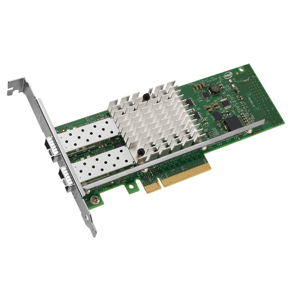 Carte réseau Intel Ethernet Converged Network Adapter X520-DA2 Intel Ethernet Converged Network Adapter X520-DA2  Dual Port - Carte PCI Express 2.0 8x -  SFP+ Direct Attach Copper - 1/10 Gigabit