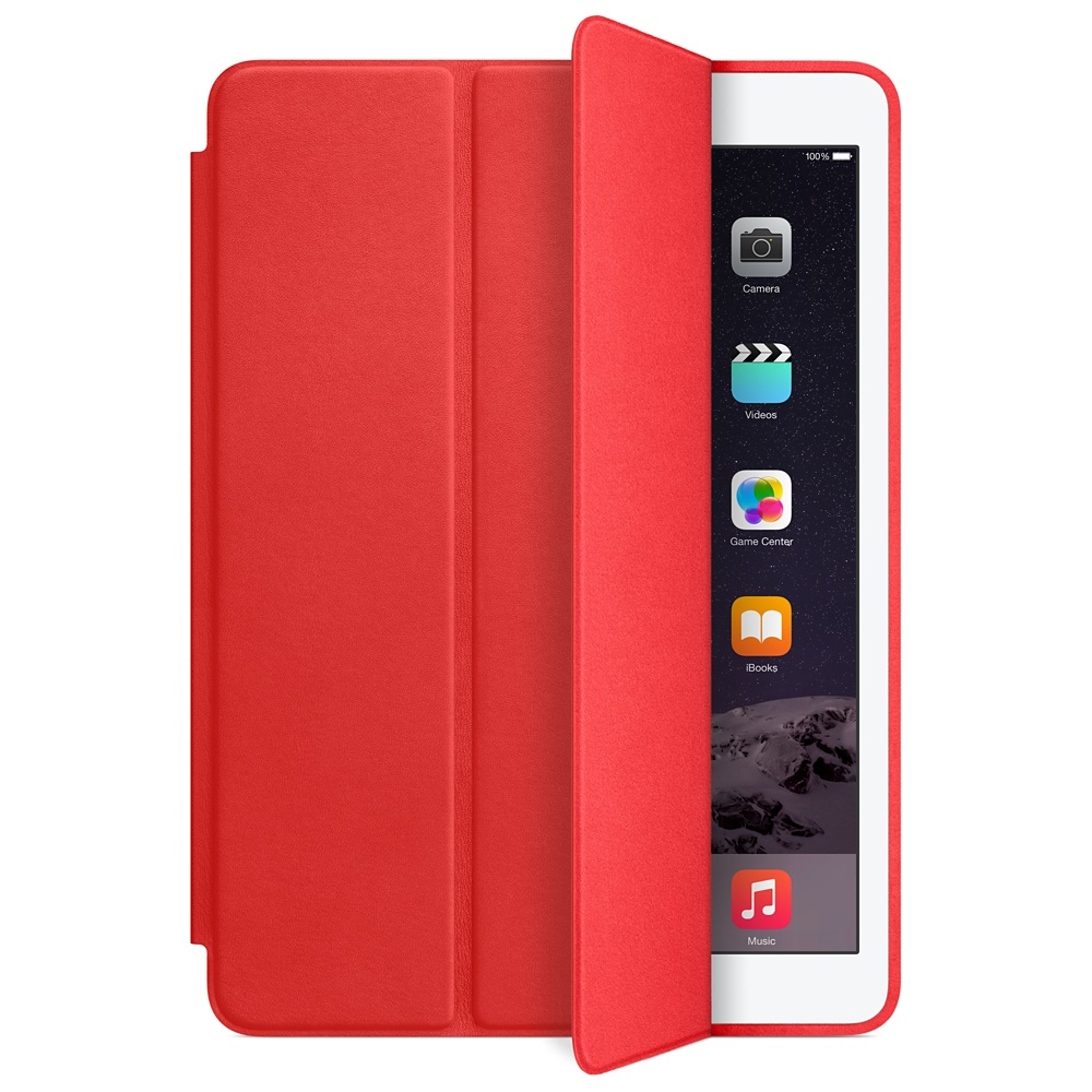 Accessoires Tablette Apple iPad Air 2 Smart Case Rouge Protection d'écran en cuir pour iPad Air 2