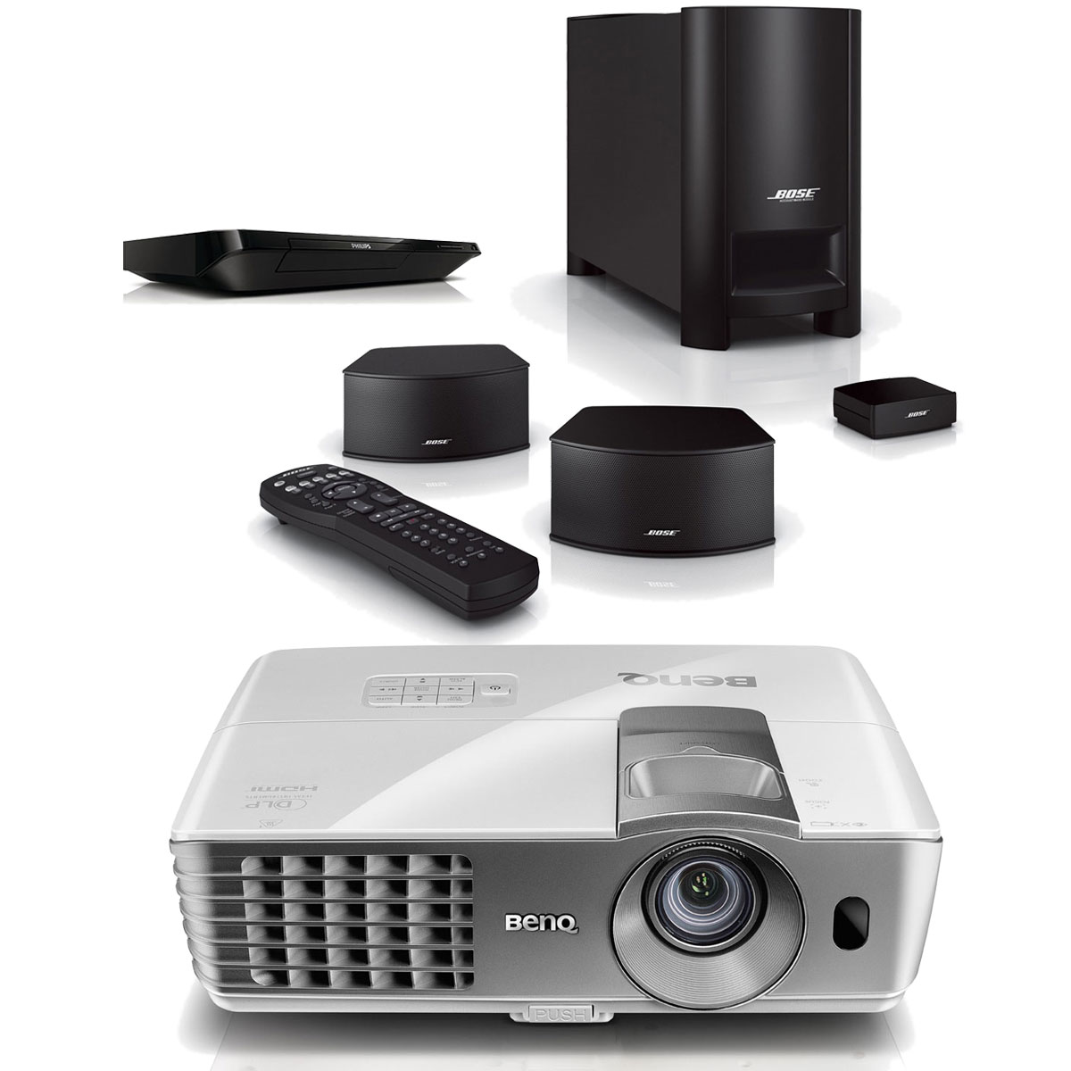 Benq w1070 bose cinemate gs ensemble home cinema - Videoprojecteur full hd 3d ...