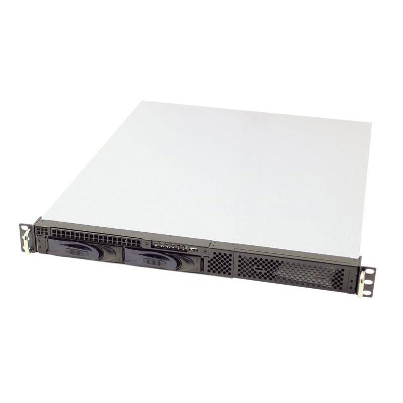 Boîtier PC AIC RMC-1TD-30E-2-R Boîtier rack 1U Noir avec alimentation 300W