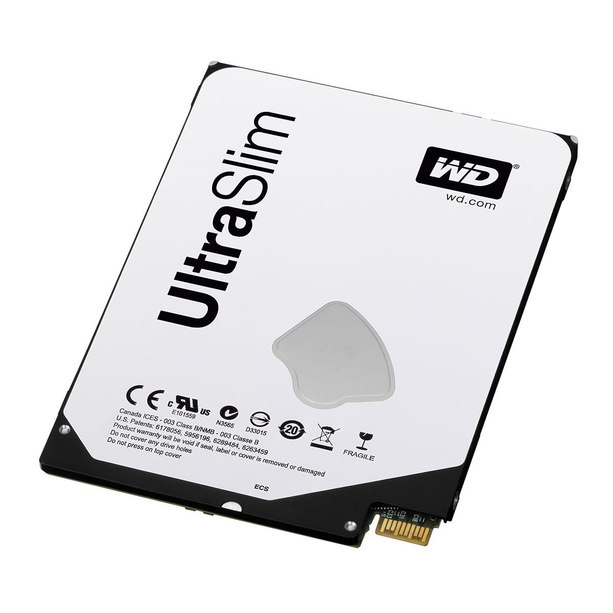 "Disque dur interne WD Blue Mobile 500 Go Ultra-Slim + Adaptateur SATA Disque dur 2.5"" 500 Go 5 mm 5400 RPM 16 Mo Serial ATA III 6 Gb/s Small Form Factor + SATA"