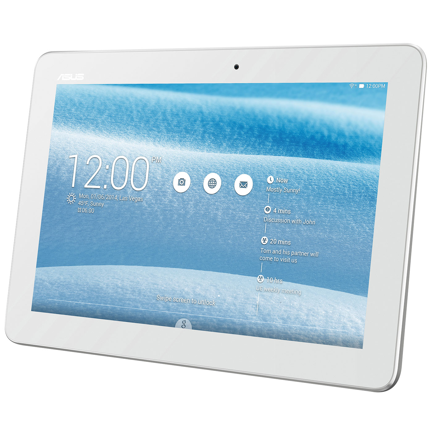 asus memo pad 10 me103k 1b001a blanc tablette tactile asus sur. Black Bedroom Furniture Sets. Home Design Ideas