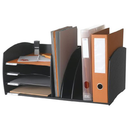 paperflow organiseur de bureau 4 cases noir module de. Black Bedroom Furniture Sets. Home Design Ideas