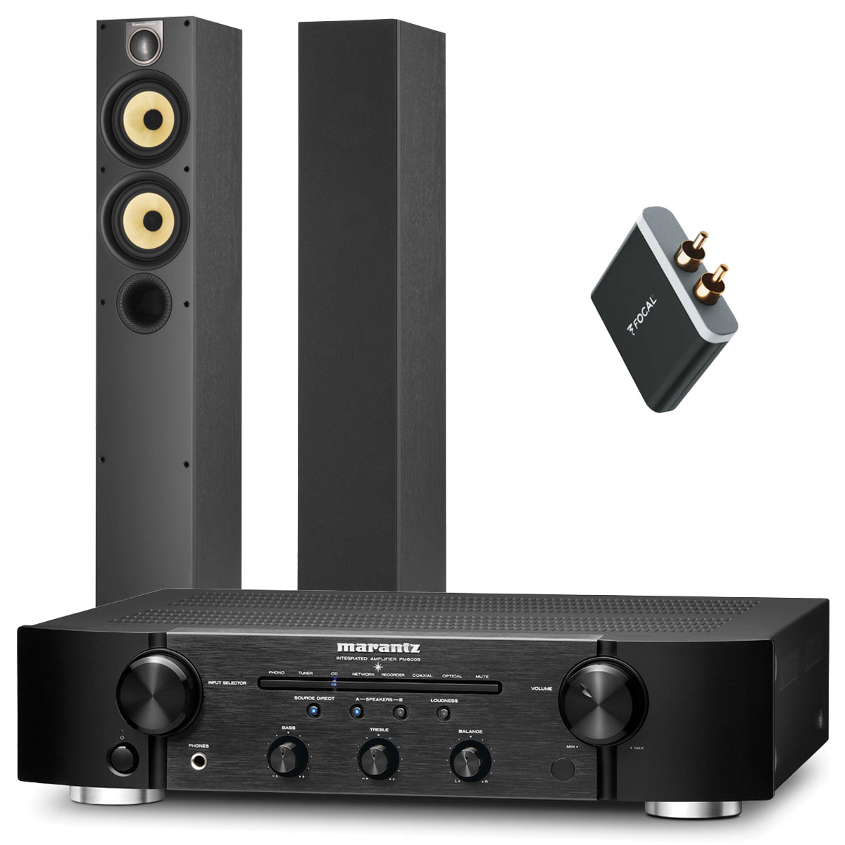 marantz pm6005 b w 684 s2 focal universal wireless receiver ensemble hifi marantz sur. Black Bedroom Furniture Sets. Home Design Ideas
