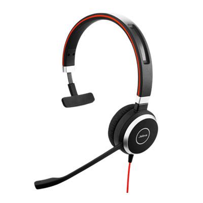 Micro-casque Jabra Evolve 40 UC Mono Micro-casque filaire mono pour softphones VoIP, mobiles et tablettes