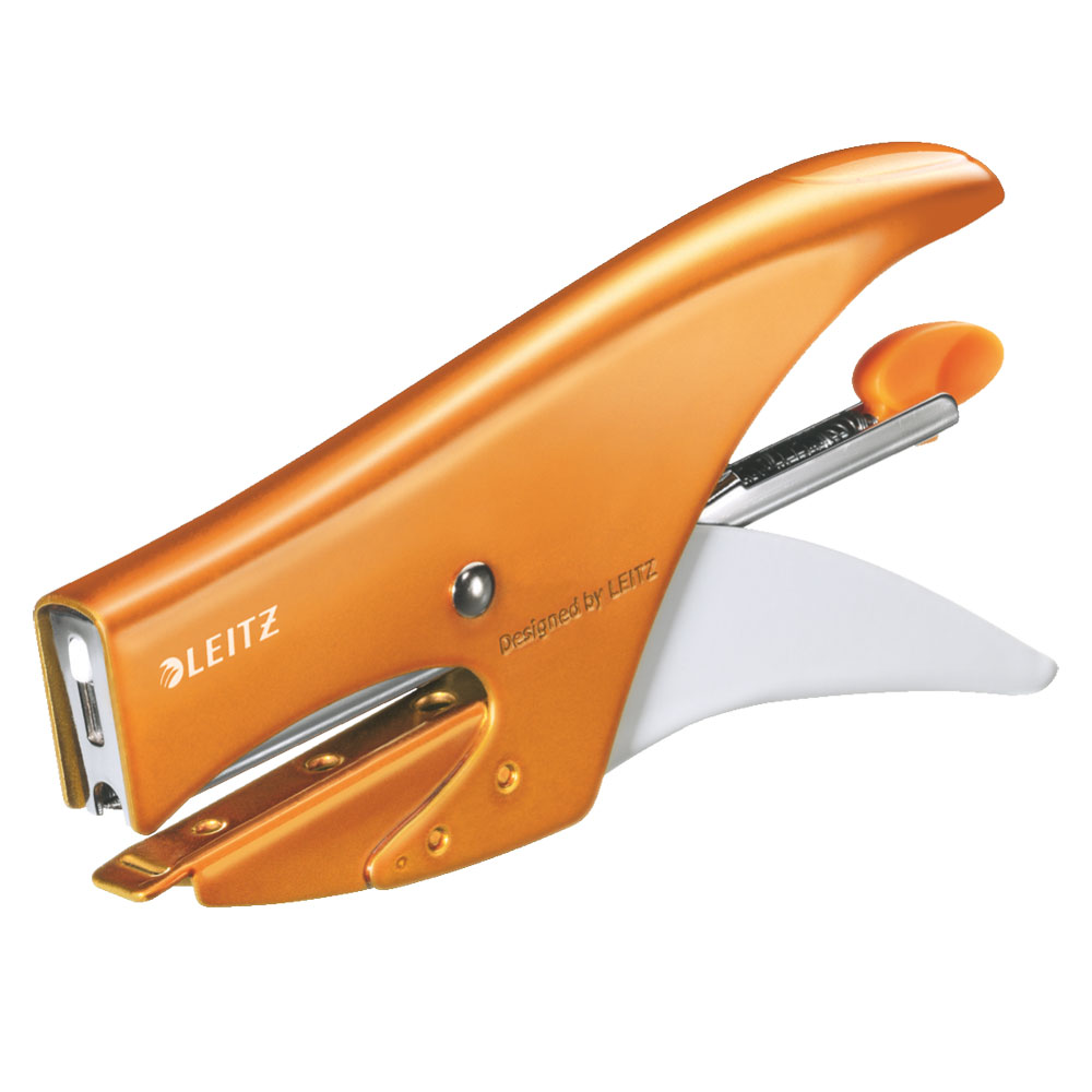 leitz wow pince agrafeuse 15 feuilles orange agrafeuse perforateur leitz sur. Black Bedroom Furniture Sets. Home Design Ideas