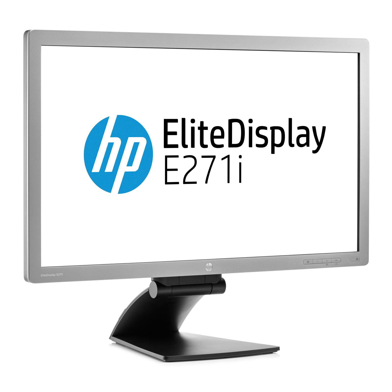 "Ecran PC HP 27"" LED - EliteDisplay E271i (D7Z72AT)  1920 x 1080 pixels - 7 ms - Format large 16/9 - Dalle IPS - DisplayPort - Hub USB - Noir"