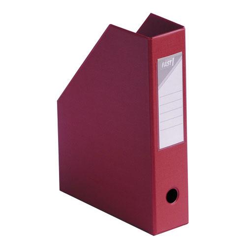 Fast bo te de classement 70 mm rouge porte revues fast for Classement papier bureau