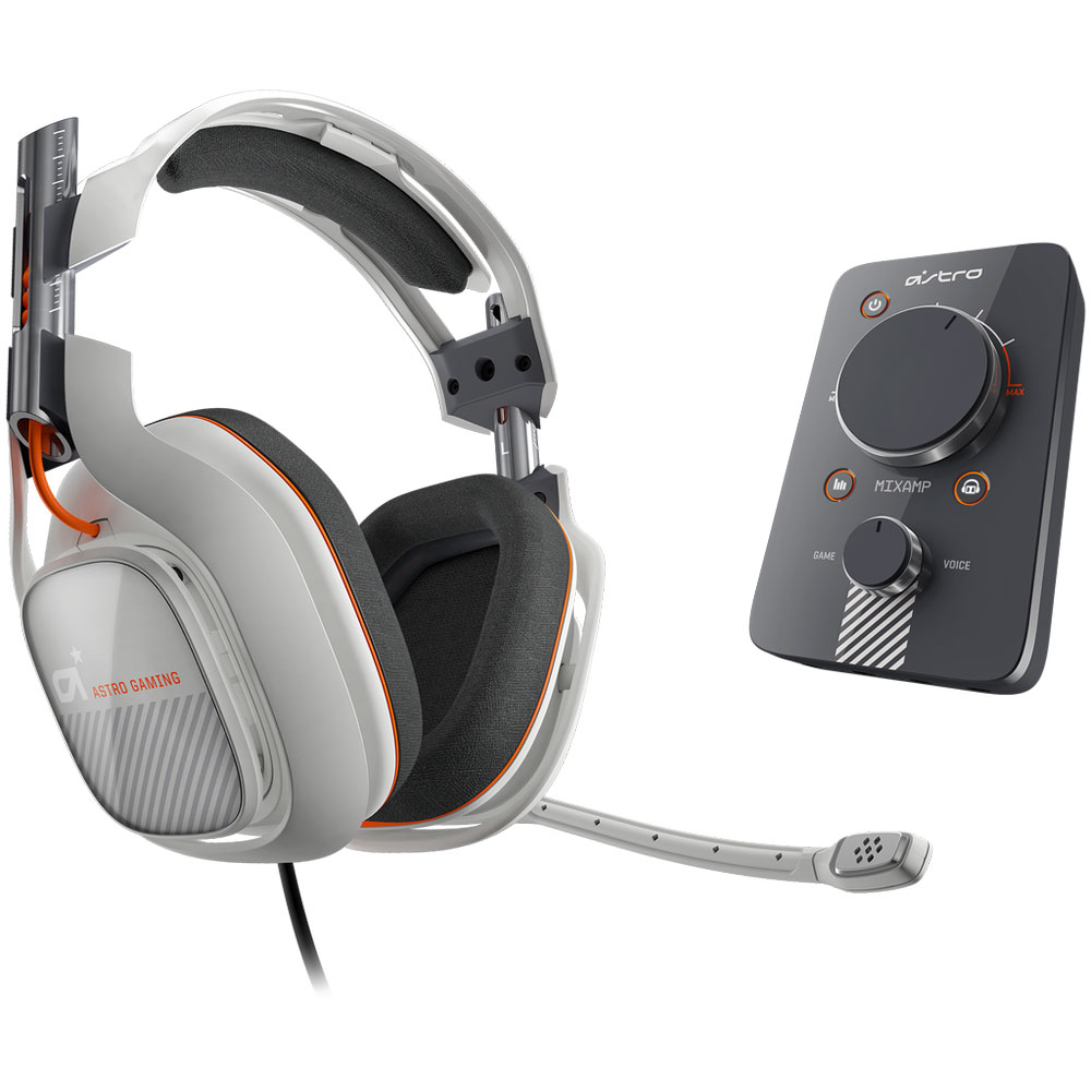 astro a40 gris clair ps3 ps4 pc mac micro casque gamer. Black Bedroom Furniture Sets. Home Design Ideas