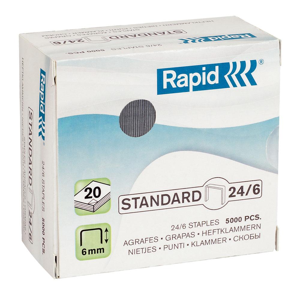 rapid agrafes 24 6 boite de 5000 agrafes agrafeuse perforateur rapid sur. Black Bedroom Furniture Sets. Home Design Ideas