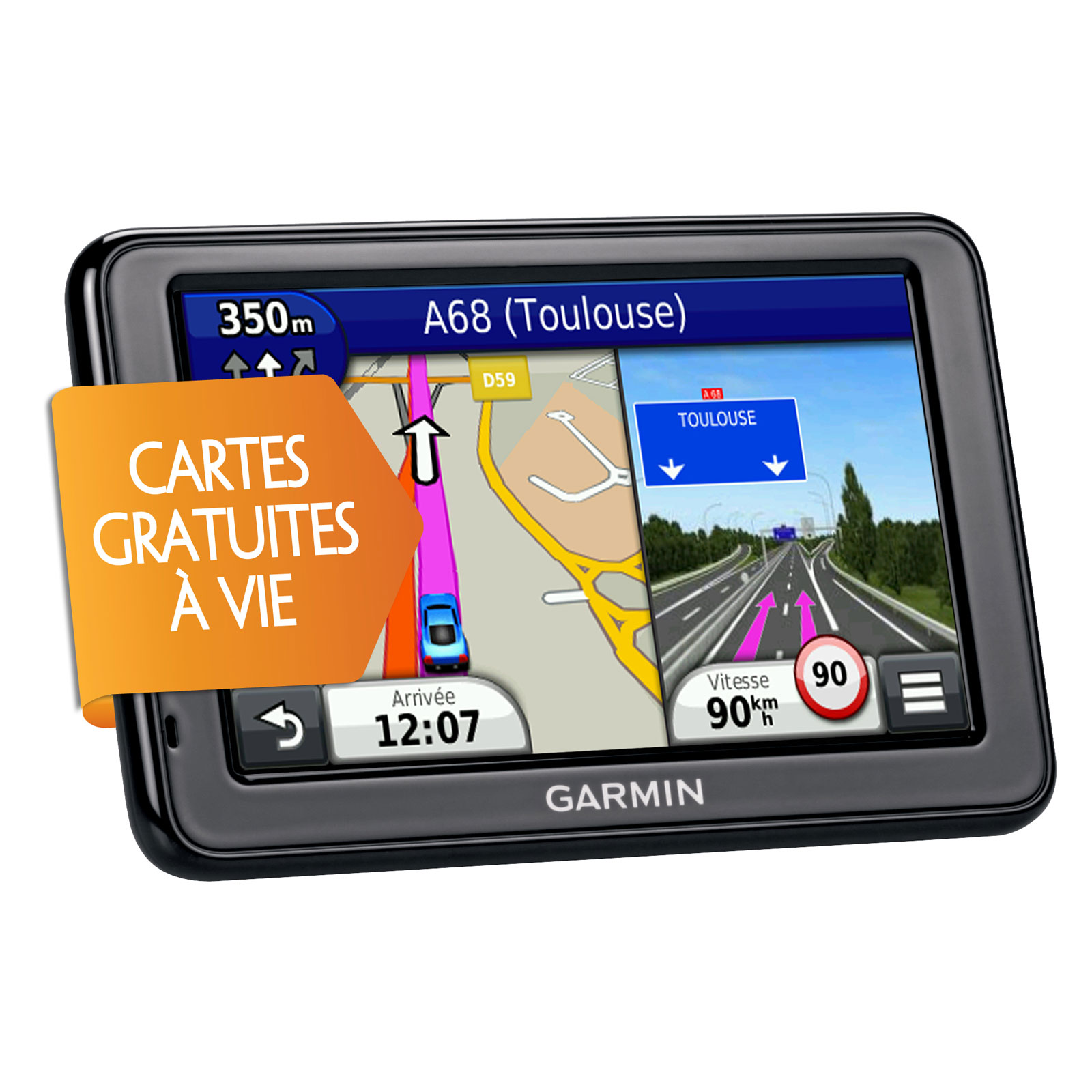 garmin n vi 2545 lm gps garmin sur. Black Bedroom Furniture Sets. Home Design Ideas