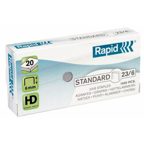 rapid agrafes 23 6 boite de 1000 agrafeuse perforateur rapid sur. Black Bedroom Furniture Sets. Home Design Ideas