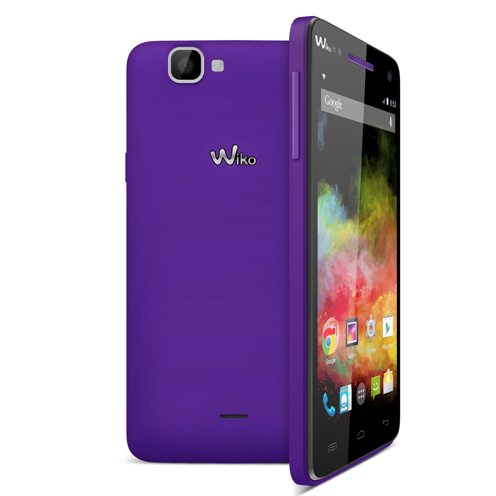 Wiko rainbow 4g violet mobile smartphone wiko sur for Photo ecran wiko